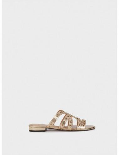 Sandales Plates Métallisées...