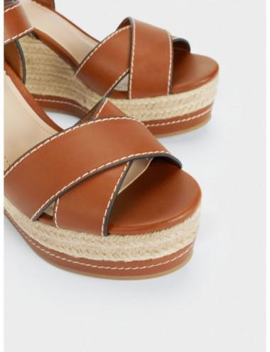 Sandales Compensées Vec...