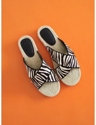 Sandales Plates En Jute...