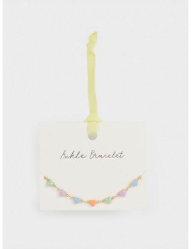 Bracelet De Cheville Cœurs