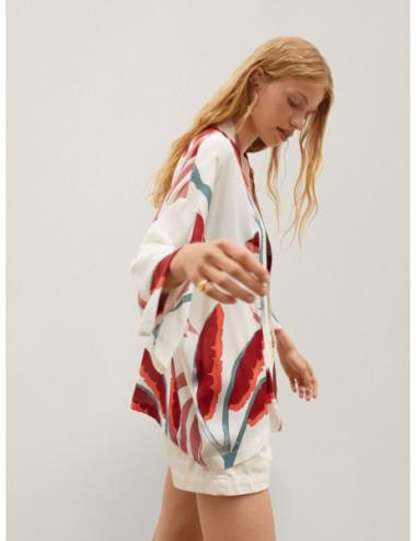 Kimono Imprimé Feuilles