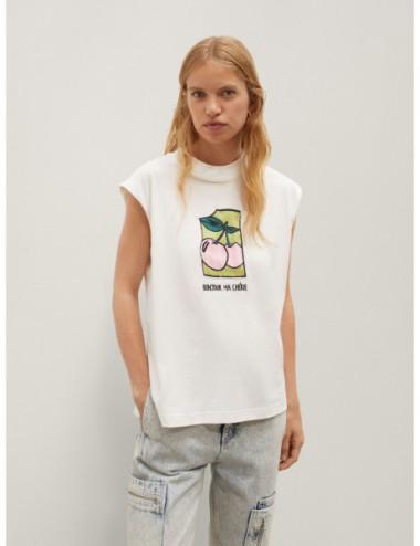 T-Shirt Sans Manches Avec...
