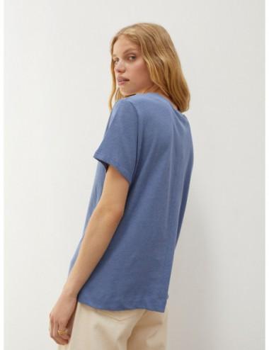 T-Shirt En Lin À Col EnV