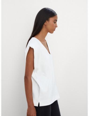 T-Shirt Sans Manches À Col...