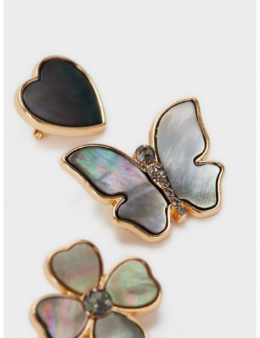 Lot De Broches Coquillage...
