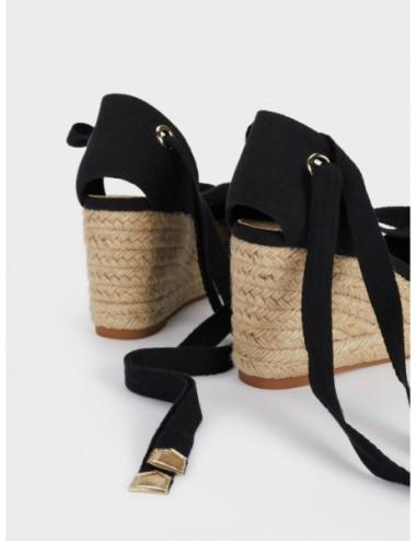Sandales Compensées Lanières