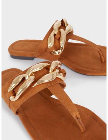 Sandales Plates Avec Chaîne