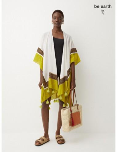 Kimono 100% Coton À Breloques