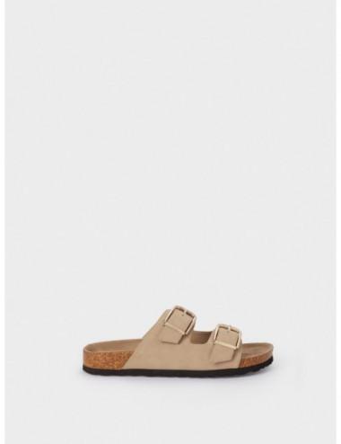 Sandales Plates À Boucles